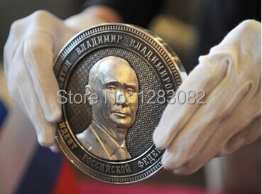 FREE SHIPPING RUSSIA President PUTIN SILVER PLATED Commemorative COINS,The Crimean map , BIG SIZE 40 MM(China (Mainland))