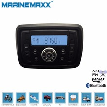 Waterproof Marine Bluetooth Stereo Motorcycle Audio Boat Radio RV Car MP3 Player RZR Golf Cart Audio Receiver UTV Sound System(China (Mainland))