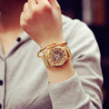 Relojes Hombre 2016 Stainless Steel Watch Montre Femme Large Dial Gold Watch Geneva Watch Women Strip