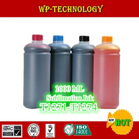 1L*4 pcs Sublimation ink suit for Epson  Workforce 630 WF633 WF635 WF840  etc , suit for T1271 -T1274 , 4L Total