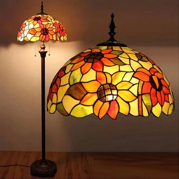 popular stained glass floor lamp shades buy cheap stained. Black Bedroom Furniture Sets. Home Design Ideas