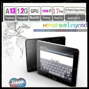 limited supply 2012 newest Ainol Novo /Ainol Novo 7 legend/Ainol legend A13 1.2GHz , 512 RAM, 8GB HDD ,Android 4.0