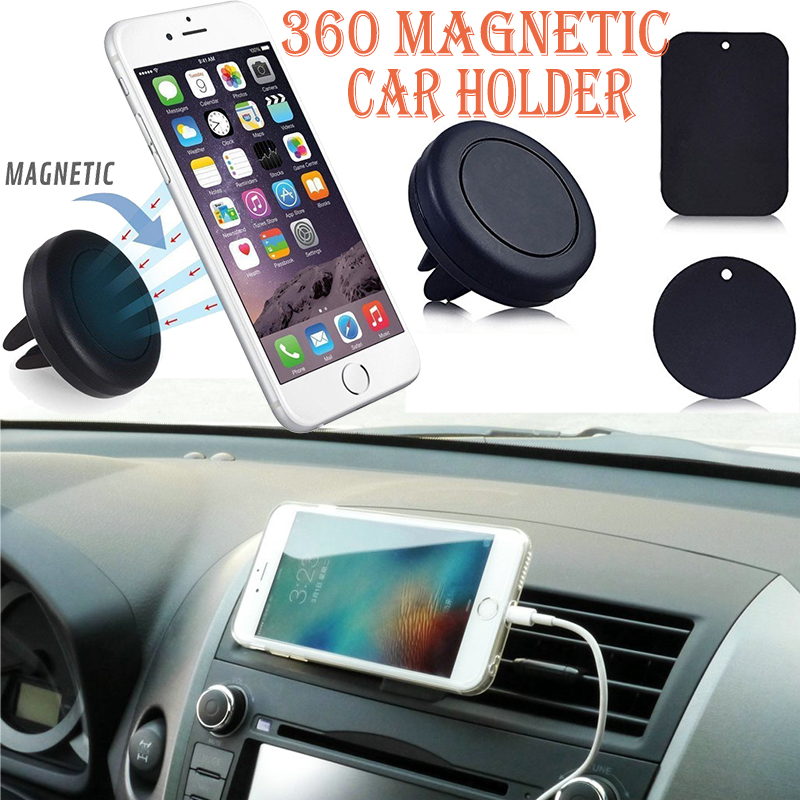 Universal Magnetic Mobile Phone Holder For iphone 6 5S 6S Plus Car Air Vent Mount Holder Stand For Samsung Cell Phone S5 S6 GPS(China (Mainland))