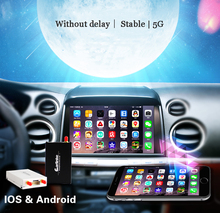 New Upgrade 5G Carlinke car TV mirror converter IOS9 Android to Audio by Airplay Mirroring / Miracast DLNA allshare Wifi ACC