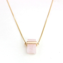 10pcs of Vintage Natural Stone Jewelry Pink Gem Crystal quartz Necklace Druzy Drusy Geode Agate Opal Pendant Long Necklaces(China (Mainland))