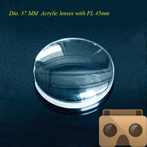 High quality 37mm Double -Convex acrylic lens the focal length is 45mm use for 3D lens(China (Mainland))