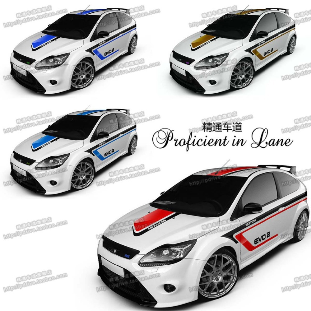 Car full body sticker design - Car Side Sticker Design Universal Customized 4 Designs Car Whole Body Sticker Styling Decal