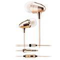 Gold Headset In Ear Bullet Monitoring Stereo Earphones Super Bass Music Earphone Noise Cancelling auricular for