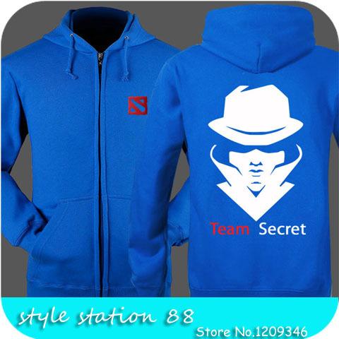 High Quality 2015 Game Dota Dota 2 Secret Team Printed Men sweatshirt Boy London Hip Hop Plus Size 3XL Loose Cardigan Hoodies(China (Mainland))