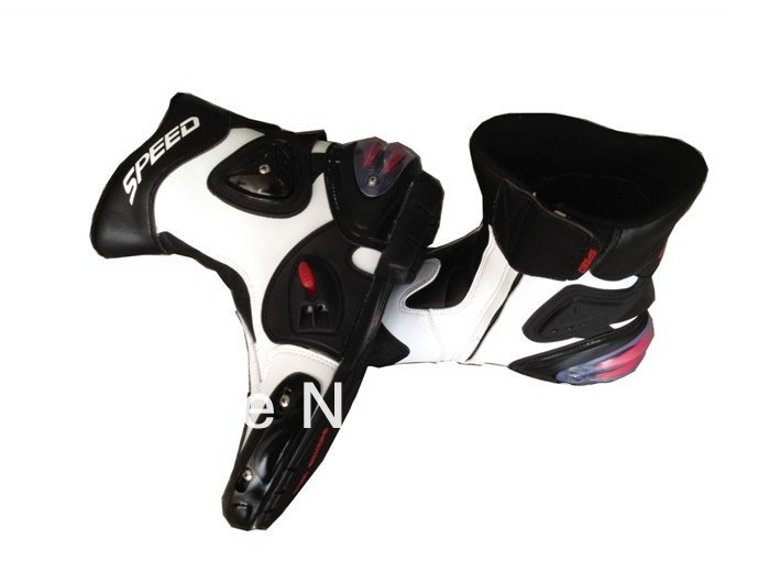 motorcycle boots Racing Boots,Motocross Boots,Motorbike SIZE: 40/41/42/43/44/45 White - Ride all over the world store