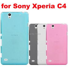 1mm C 4 Crystal Half Clear Soft TPU Phone Case Sony Xperia C4 E5303 E5306 E5353 / Dual E5333 E5343 E5363 Cover Skin 5.5 inch - iCurious Trade Co.,Ltd. store