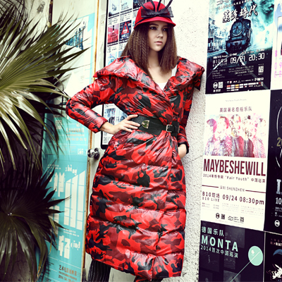 Free Shipping New 2015 Women Luxury Winter Fashion Medium-long Thin Thickening Outerwear Down Coat High Qulity Ladies Coat(China (Mainland))