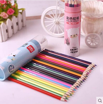 18 pieces markers grease pencil painting wood crayon 18colors/set   Non-Toxic Crayon Oil Painting Stick Student School Supply