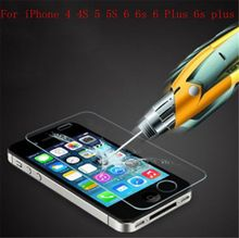 New Arrival 0.3 mm Anti-Explosion Shock Film Guard Screen Protector for iPhone 4 4s 5 5s 6 6s 6 Plus capa fundas glass protector(China (Mainland))