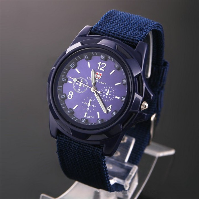 C0041 Famous Brand Men Outdoor Sport Quartz wristwatch Casual Fabric Watch Solider Military Army Watches Clock Relogio Masculino