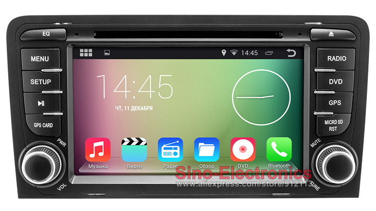 Android Car DVD GPS for Audi A3 S3 RS3 2003-2011 with BT 3G host Wifi RDS Mirror Link Steering wheel control Free 8GB Map Card(China (Mainland))