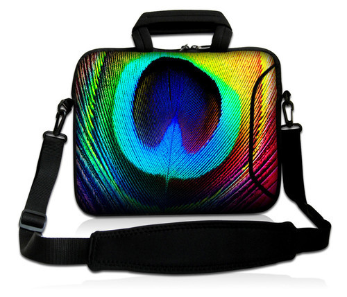 Colorful Feather 13Neoprene Laptop Carrying Bag Sleeve Case Cover w/Side Pocket +Shoulder Strap For 13.3 Apple Macbook Pro,Air<br><br>Aliexpress