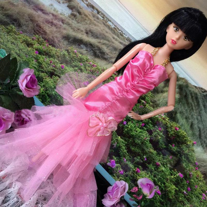 New Colourful Handmade Costume Marriage ceremony Celebration Mini Robe Style Garments For Barbie_Cloth Doll Kids Equipment Provides