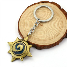 Fashion 3D Hearthstone Keychains Heroes Of Key Chains Ring Top Grade Best Friend Vintage Metal Keychain For Fans(China (Mainland))