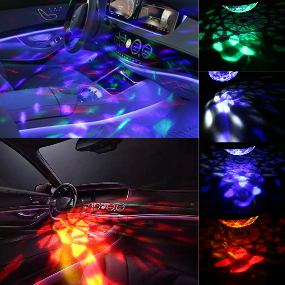 Car Music Rhythm LED light DJ Atmosphere Lamp 5V USB Power Sound Control Different Color Lights Lamp Car Interior Lights