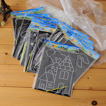 30pcs/lot 17*12.8cm Medium Size Scratch Picture Cards Scraping Painting Set Children's Drawing Toys Educational Toy Wholesale(China (Mainland))