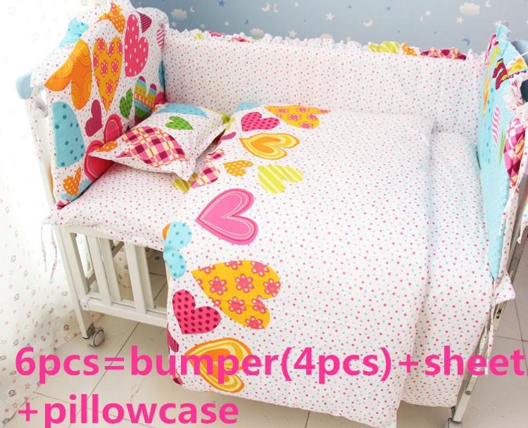 Promotion! 6/7PCS Infant/Newborn Bedroom Bedding Set,Baby Bedding Set Bed, 120*60/120*70cm<br><br>Aliexpress