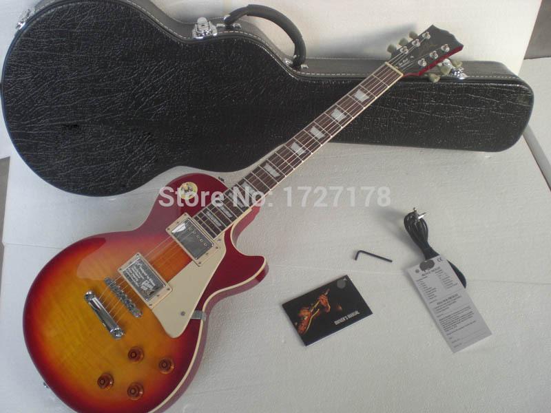 Custom shop Slash LP Guitar, musical instrument cherry burst electric guitar,free shipping(China (Mainland))