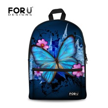 Designer Brand Backpacks Female Cartoon Butterfly Fashion School Backpacks for Teenager Girls Casual Outdoor Bag Canvas Backpack(China (Mainland))