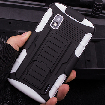 Nexus 4 Case, Rugged Hybrid Hard Case Cover Belt Clip Holster For LG Google Nexus 4 E960 Cell Phone Cases + Flim + Touch Stylus(China (Mainland))