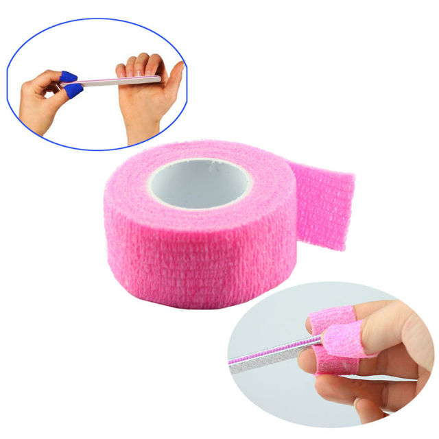 100pcs Finger File Bandage Strip Protection Flex Wrap Color Rolls Manicure Tool Nail Drill Accessory Wholesale SKU:F0058X