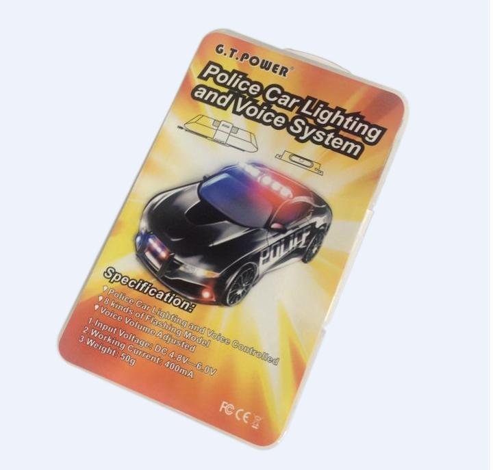 TOPS F13041 G.T.Power RC Police Car Lighting and Voice System with 8 Kinds of Flashing Model and DC Input + FS(China (Mainland))
