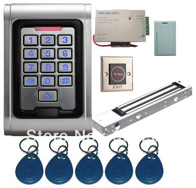 Proximity Card Waterproof Standalone Access Control Kits/5pcs keyfobs+5pcs cards, Waterproof Metal Keypad,Magnetic Lock<br><br>Aliexpress