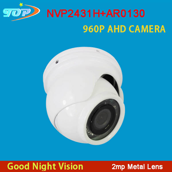 Four Pieces a Lot 12Pcs Infrared  Leds 960P 1/3  SC1035+NVP2431H CMOS White Mini  Dome AHD CCTV  Camera Free Shipping<br><br>Aliexpress