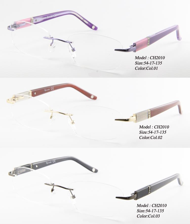 women's eyeglass frames 2015 j2wb  Wholesale Eye wonder Women Rimless Eyeglasses Frame Glasses Myopia Metal  Optical Frames Glasses Eyewear Oculos de