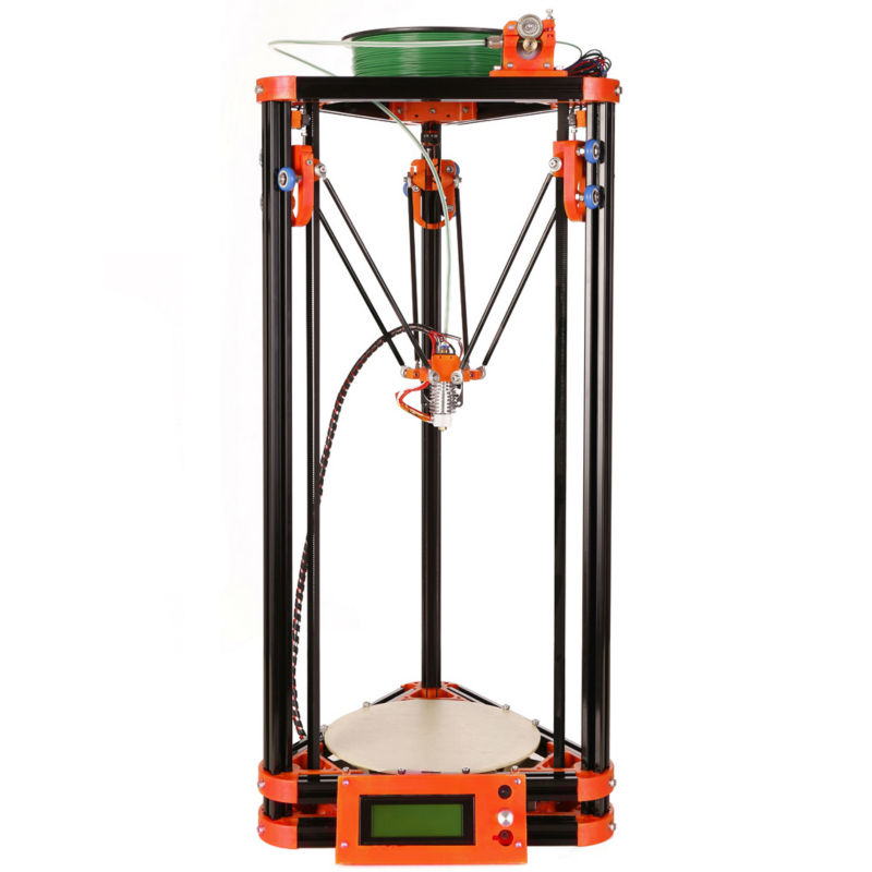 LCD Display Diy Delta 3d Printer Kit With 8GB SD Card LCD 40m Filament For Free