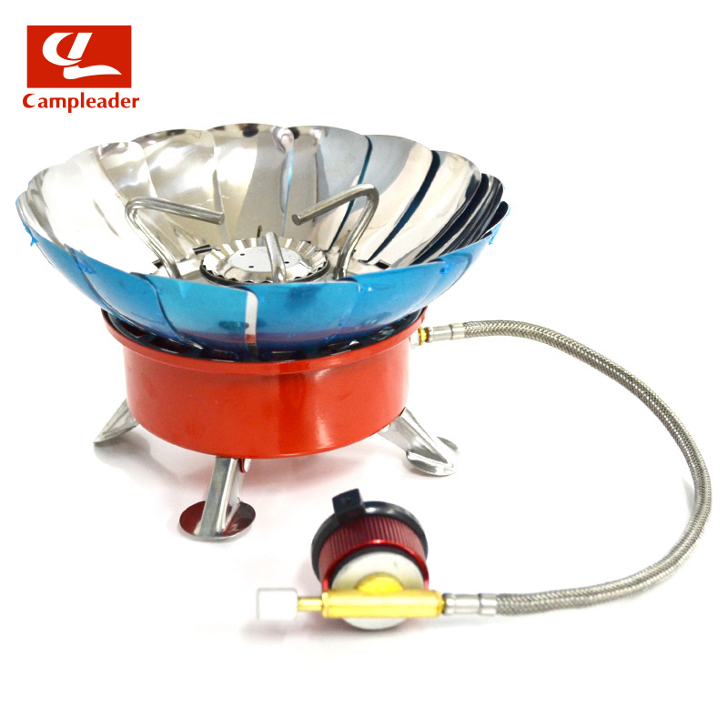 2016 New Brand Windproof Stove Cooker Cookware Gas Burner for Camping Picnic Cookout BBQ With Extended pipe 0224(China (Mainland))