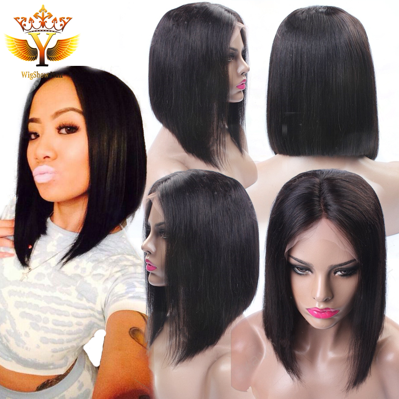 Фотография Human Hair Lace Front Wigs Black Women Full Lace Wigs Human Hair With Baby Hair Human Hair Bob Wigs For Afro American Sew In Wig