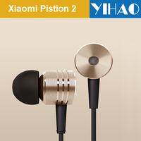 Original XIAOMI Piston 2 earphones Headphone in-ear earbuds with Remote Mic  Golden Color