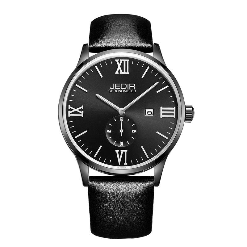 JEDIR luxury brand mens watch, business man accurate date calendar watch, leather strap quartz watch, leisure fashion watches<br><br>Aliexpress