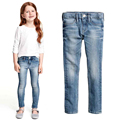 Girl soft jeans Little Girl skinny jeans High quality spring autumn kids clothes baby girl trousers
