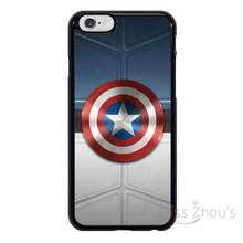 For iphone 4/4s 5/5s 5c SE 6/6s plus ipod touch 4/5/6 back skins mobile cellphone cases cover Captain America Badge Logo
