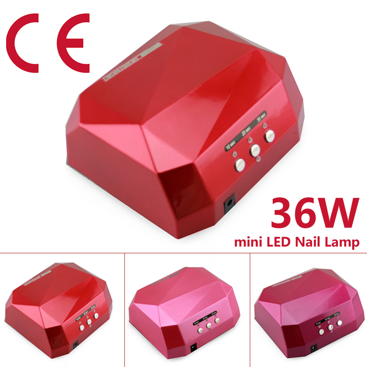 36W LED CCFL UV Nail Dryer Light LED UV Gel Curing Lamps for UV and LED Gel Polish free shipping(China (Mainland))