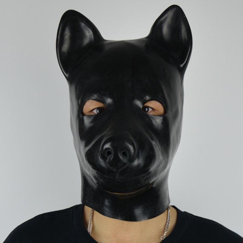 Черный костюм из латекса с маской фото 23 фотография