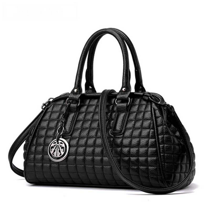 The new trend shoulder handbags shell bag ladies double zipper Quilted handbag simple messenger bag(China (Mainland))