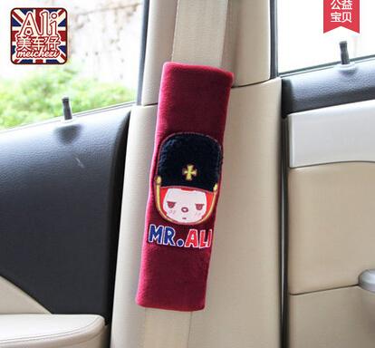 Mr A*LI Cartoon styple 2 pcs/lset Car seat belts cover soft cr Auto shoulder pad for seat 5 colors(China (Mainland))