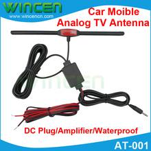 High Quality Signal Car Moible Analog TV Antenna Moible TV Antenna Auto TV Antenna Build in Amplifier Waterproof(China (Mainland))