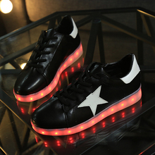 2016 Women Men Colorful casual shoes with neon lights up unisex led luminous shoes simulation sole Led shoes for adults
