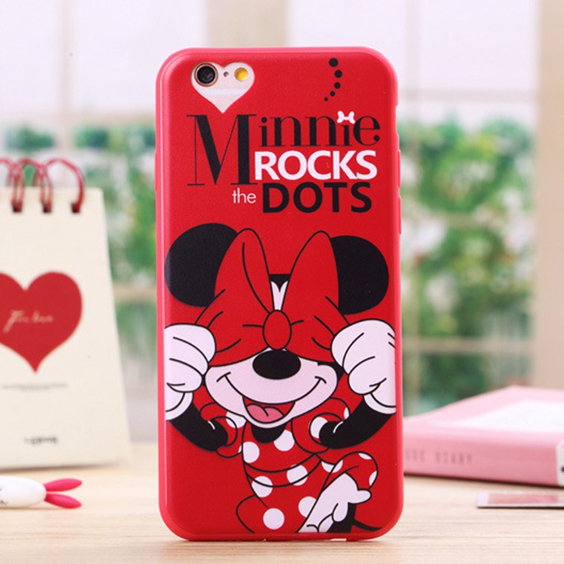 Soft Silicone Case for Iphone 5 5s SE Cute Cartoon Minnie Mickey Mouse Donald Phone Cover for Iphone 5s Cases(China (Mainland))