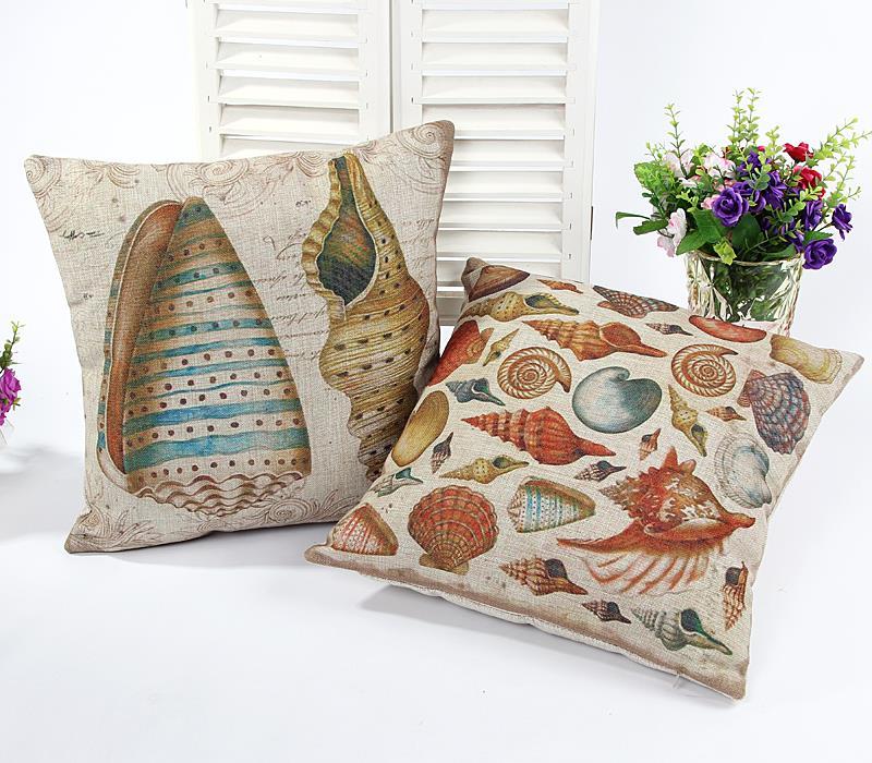 Ocean shell cushions home decor chair cushion pillow for Cojines para sofas