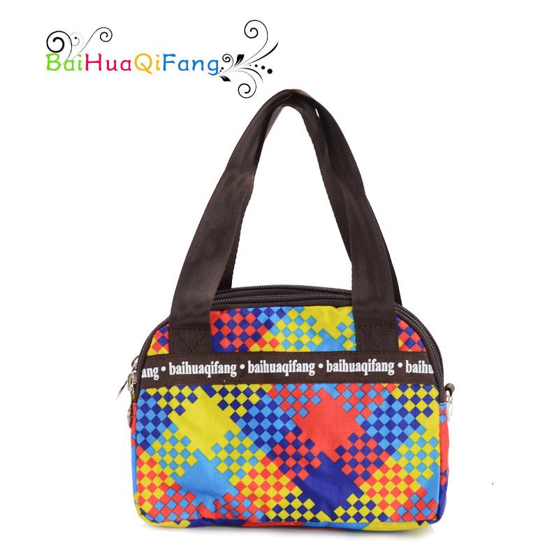 Designer women's small plaid handbag with short handles high quality water proof PVC tote bags ladies 3colors bolsos mujer(China (Mainland))